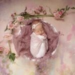 Newborn girl photography in Crawley